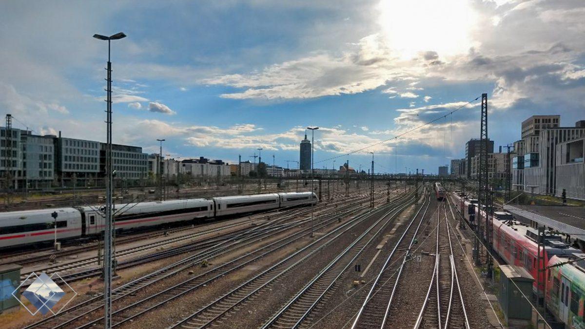 Zugeinfahrt nach München