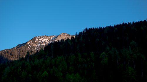 Blick auf einen Berg