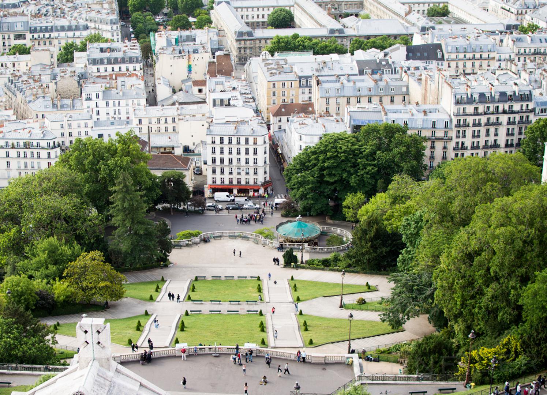 Blick von Sacré Coeur in Paris