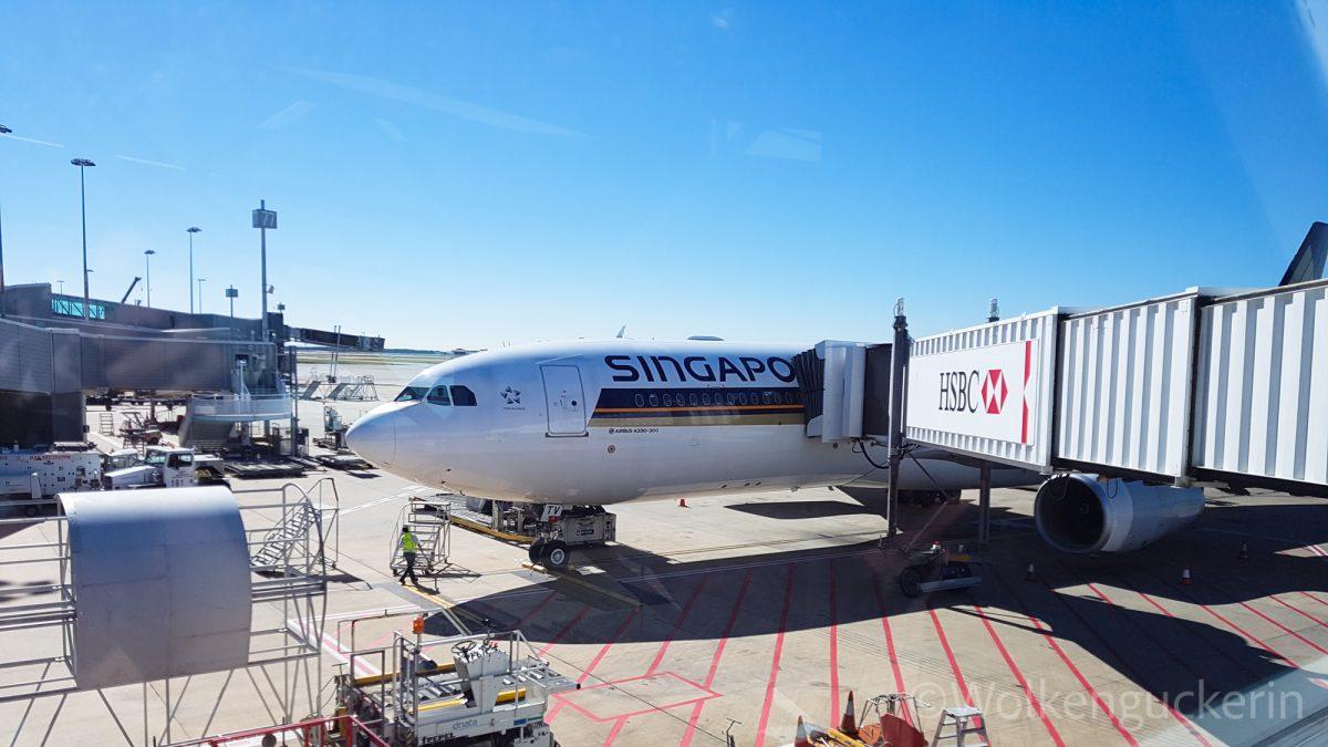 Flugzeug der Singapore Airline