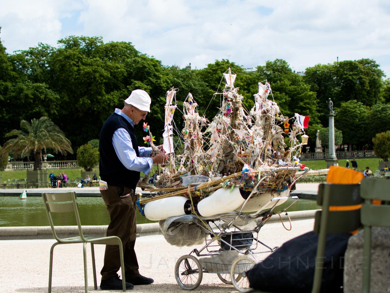 Bootsbauer im Jardin du Luxembourg