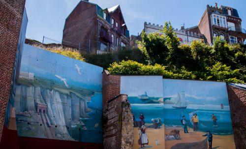 Alabasterküste - Malerei in Le Tréport