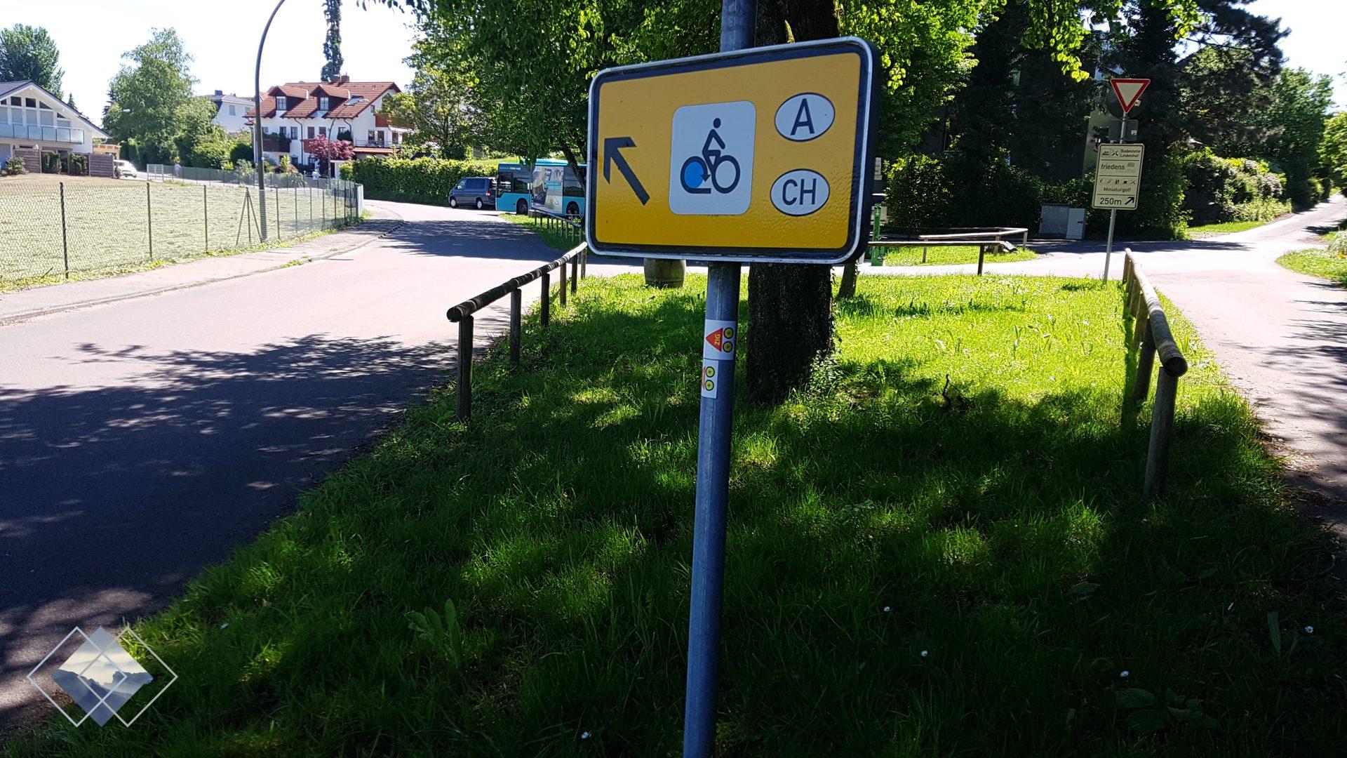 Bodenseeradweg Wegweiser